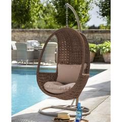 Hartman Heritage Hanging Chair w/Cushion Bark/Sand