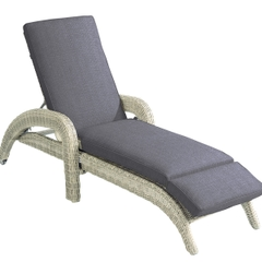 Hartman Cotswold Lounger w/cushion Whitewash/Pebble