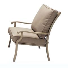 Portland Lounge Chair With Cushion (Light Oak)