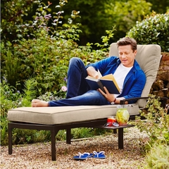 Hartman Jamie Oliver Contemporary Lounger 2017 Bronze with Biscuit Cushion