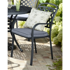 Hartman Berkeley Dining Chair w/cushion Antique Grey/Platinum