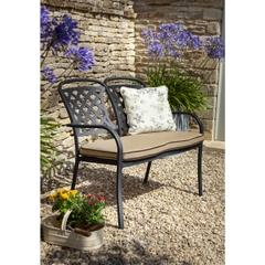 Hartman Berkeley 2 Seat Bench w/Cushion Bronze/Amber