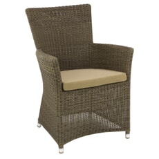 Monte Carlo Brown Square Top Chair (2.5mm) with Cushion