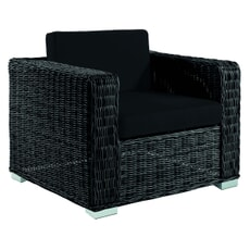 Monte Carlo Lounge Chair - Black/ TAUPE CUSHIONS (2.5mm)