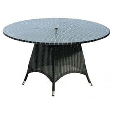Monte Carlo 1.2m Mosiac Table - Black