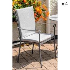 LG Outdoor Alexandria 4 Seat Dining Set