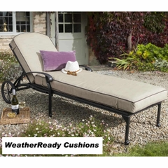 Hartman Amalfi Lounger Weatherready Cushion Bronze/Fawn