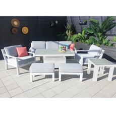 Hartman Apollo Glacier 3 Seat Lounge Set with Height Adjustable Table