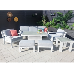Hartman Apollo Glacier 3 Seat Lounge Set with Height Adjustable Table