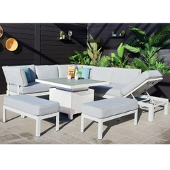 Hartman Apollo Glacier Comfort Corner Casual Dining Set With Adjustable Table