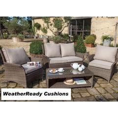 Hartman Appleton Shelf Lounge Set Weatherready Cushions Bark/Sand