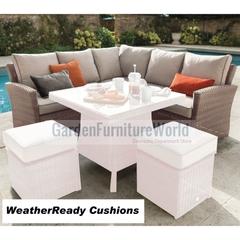 Hartman Madison/Appleton Square Casual Corner Sofa Weatherready Cushions Bark/Sand