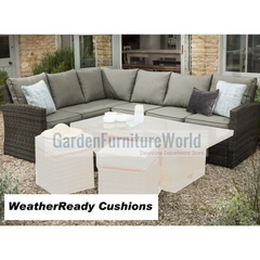 Hartman Madison/Appleton Rectangular Casual Dining Sofa Weatherready Cushions Slate/Stone