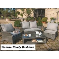 Hartman Appleton Shelf Lounge Set Weatherready Cushions Slate/Stone