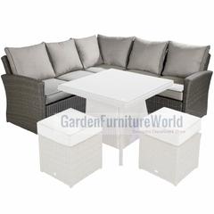 Hartman Madison/Appleton Square Casual Corner Sofa Weatherready Cushions Slate/Stone