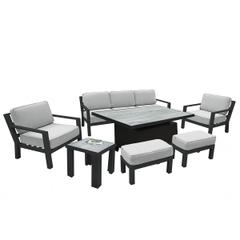Hartman Apollo 3 Seat Adjustable Lounge Set Carbon/Pewter