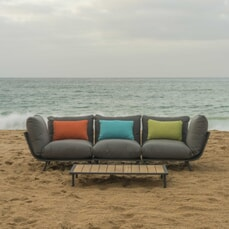 Alexander Rose Beach Lounge 3 Seat Sofa Lounge Set
