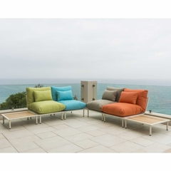 Alexander Rose Beach Lounge 4 Seat Corner Set with Side Tables