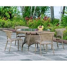 Alexander Rose Manila 4 Seat Stacking Chair Set