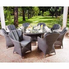 Alexander Rose Monte Carlo Grey 8 Seat Set