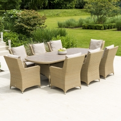 Alexander Rose Richmond 6 Seat Oval Dining Set with Cushions
