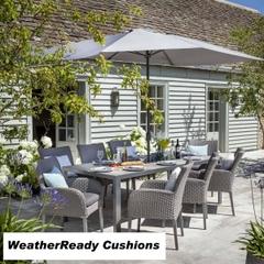 Hartman Atlanta 8 Seat Set Weatherready Cushions Platinum/Pebble