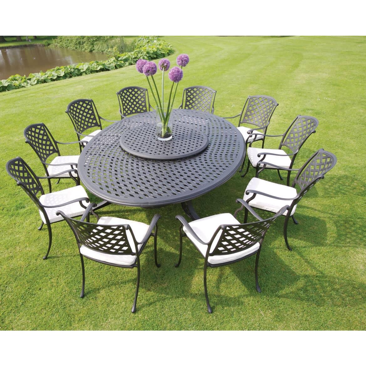 bramblecrest milan oval 10 seater set bmilset01a. Black Bedroom Furniture Sets. Home Design Ideas