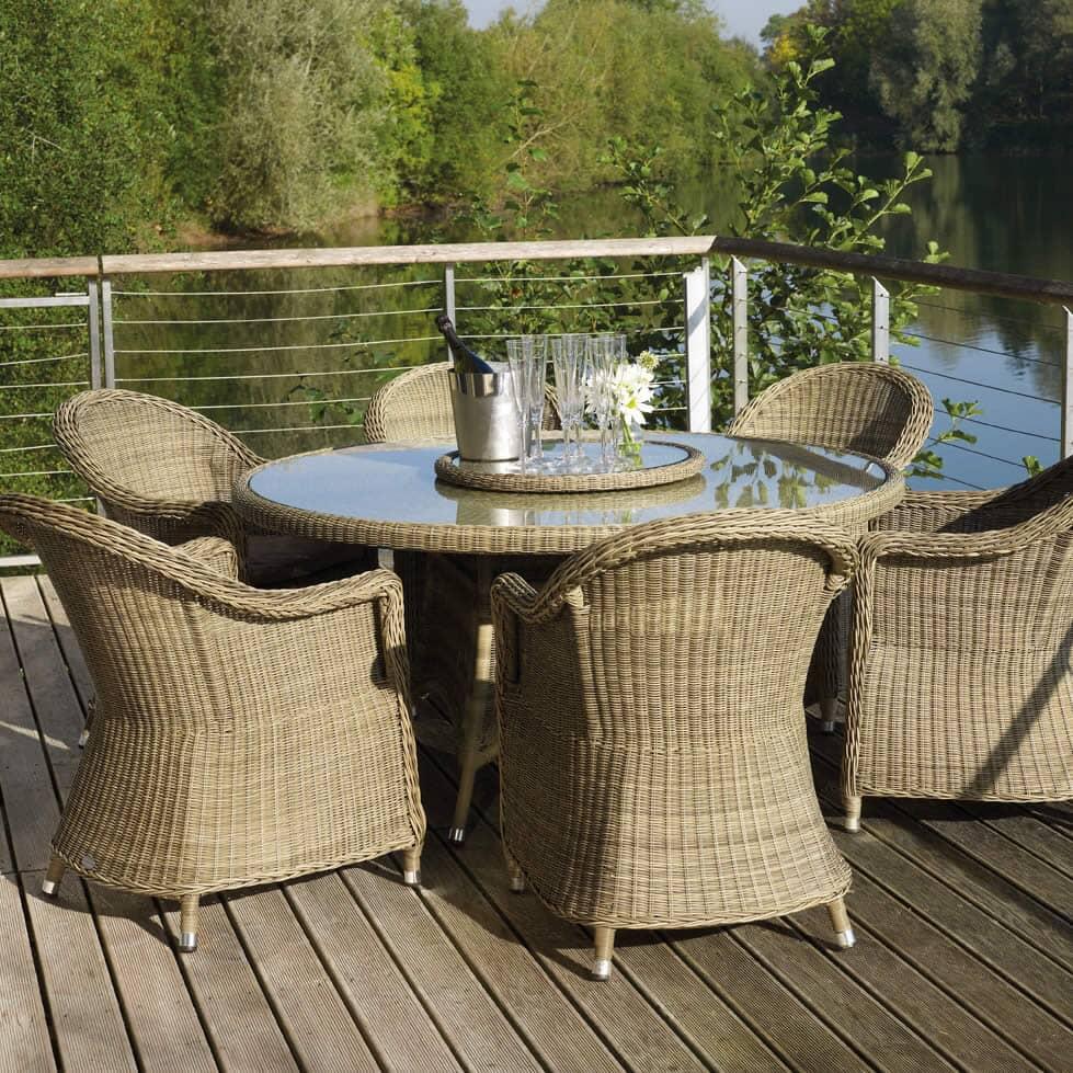 bramblecrest sahara round back 6 seat set bnevset01. Black Bedroom Furniture Sets. Home Design Ideas