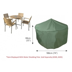 Bosmere Circular Patio Set Cover - 4/6 seat