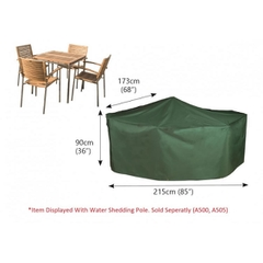 Bosmere Rectangular Patio Set Cover - 4 seat