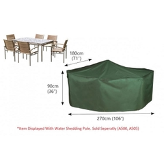 Bosmere Rectangular Patio Set Cover - 6 seat