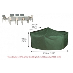Bosmere Rectangular Patio Set Cover - 8 seat