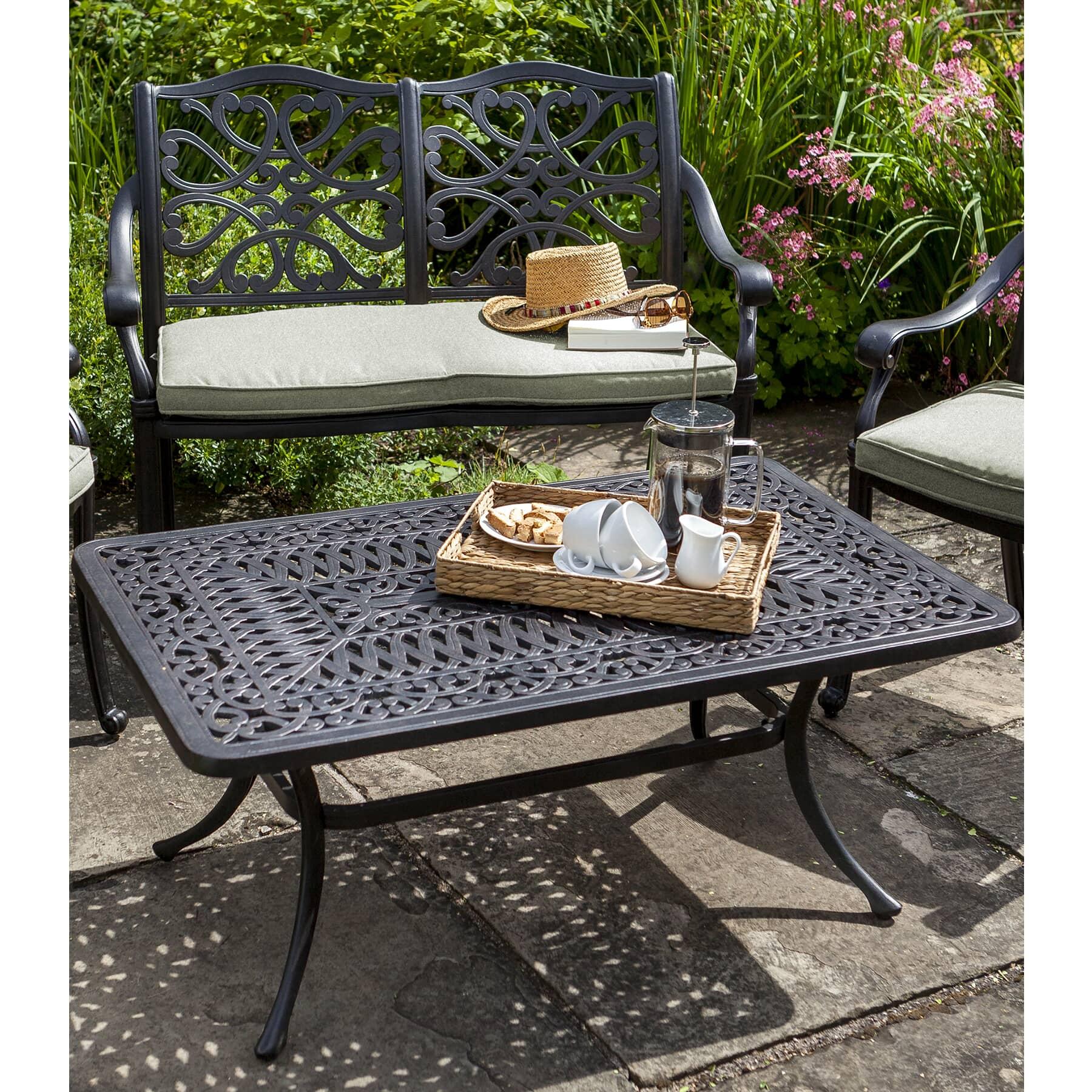Coffee Table Garden Set: Hartman Capri Bench And Coffee Table Bronze