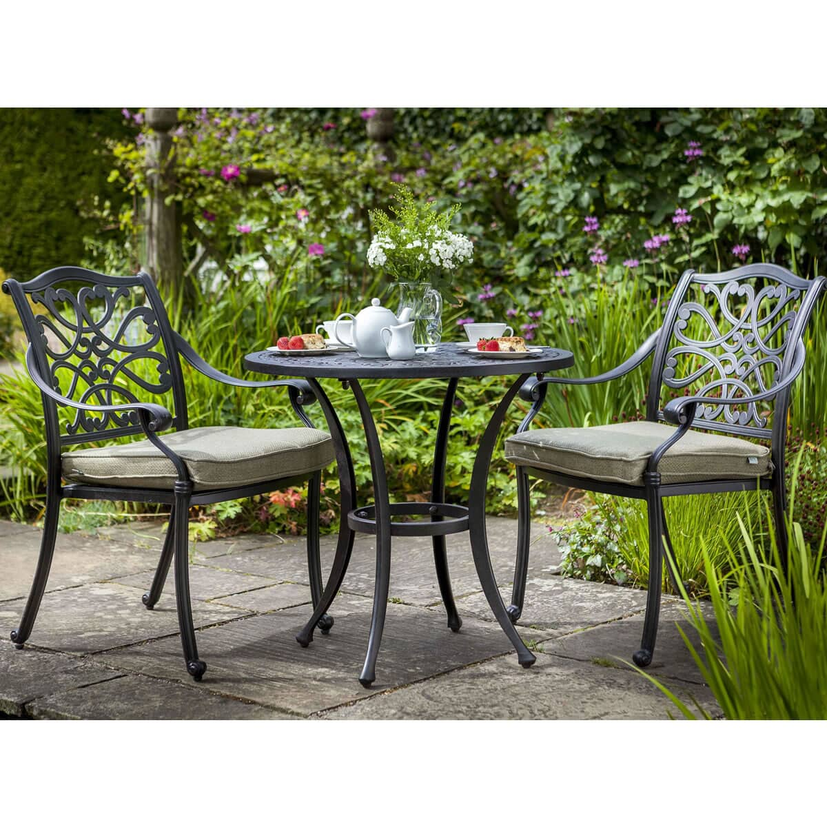 hartman capri bistro set bronze capribisset garden. Black Bedroom Furniture Sets. Home Design Ideas
