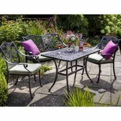 Hartman Capri Tall Coffee Garden Furniture Set 2017 Bonze with Wheatgrass Cushions