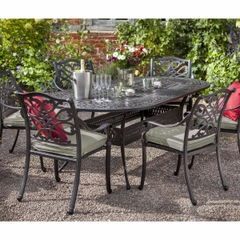 Hartman Capri Oval  6 Seat Set 2017 Bronze with Wheatgrass Cushions