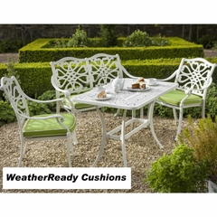 Hartman Capri Zest Coffee Set Weatherready Cushions Royal White/Lime