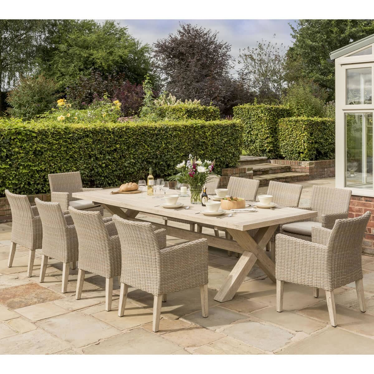 Kettler Cora 10 Seat Dining Set Coraset01 Garden
