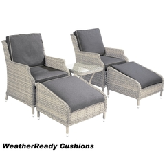 Hartman Hartford Companion Set Weatherready Cushions White Wash /Pebble