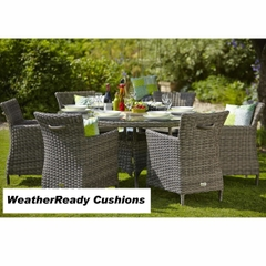 Hartman Bali 6 Seat Set - Driftwood/WeatherReady Tweed