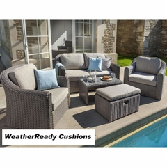 Hartman Bali Lounge Set - Driftwood/WeatherReady Tweed