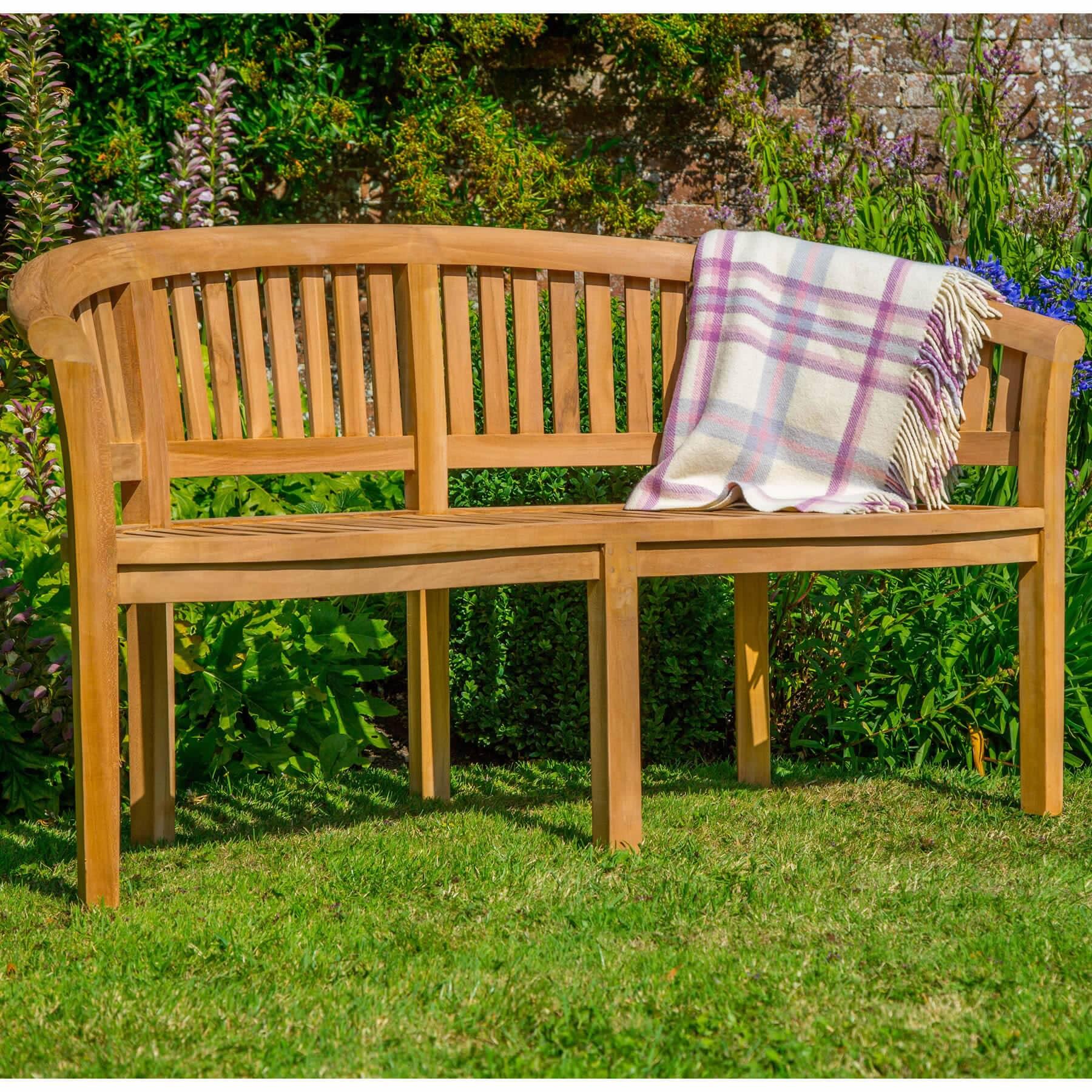 bramblecrest broadway banana bench 8cm hbbn2 garden. Black Bedroom Furniture Sets. Home Design Ideas