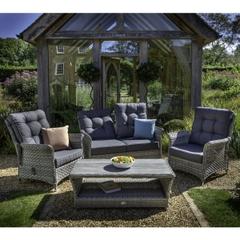 Hartman Heritage Tuscan 2 Seat Reclining Lounge Set Ash/Slate
