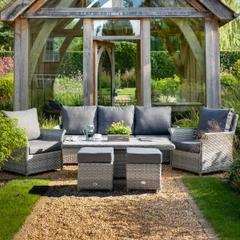 Hartman Heritage Tuscan 3 Seat Adjustable Lounge Set Ash/Slate
