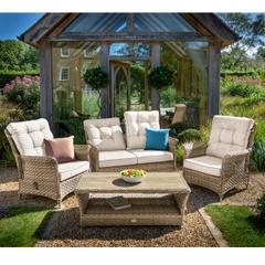 Hartman Heritage Tuscan 2 Seat Reclining Lounge Set Beech/Dove