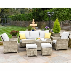 Hartman Heritage Tuscan 3 Seat Adjustable Lounge Set Beech/Dove
