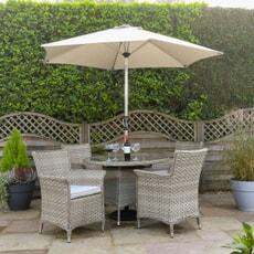 Hartman Heritage 4 Seat Bijou Dining Set Beech/Dove with Glass Top