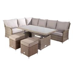 Hartman Heritage Rectangular Casual Dining Set with Adjustable Table Bark/Sand