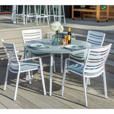 Hartman Aurora 4 Seat Round Set Glacier/Ocean