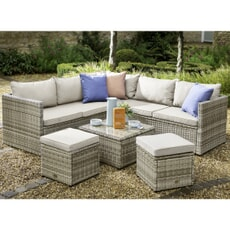 Hartman Cirrus Square Casual Lounge Set With Stools Beech/Dove